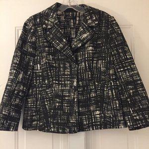 Ann Taylor Black and White Cotton Jacket